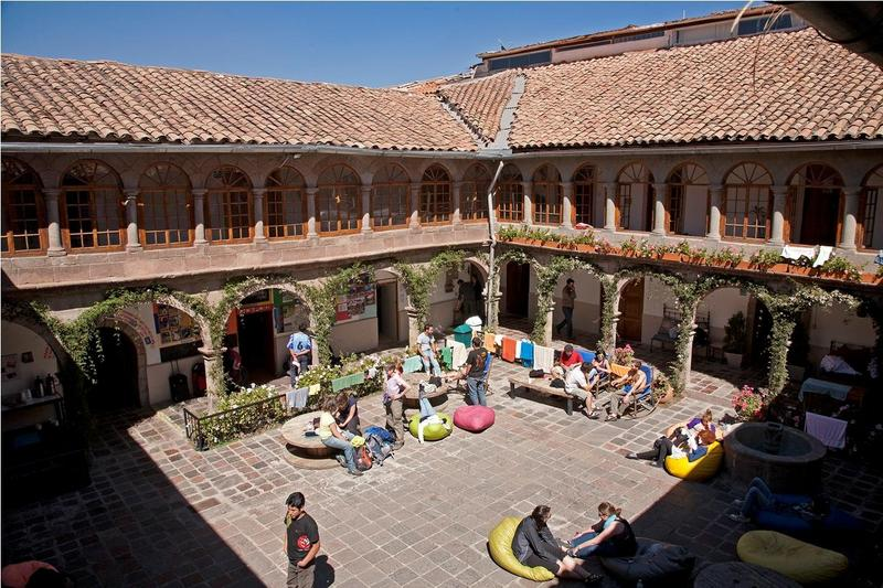 Pariwana Hostel courtyard. Photo credits: Hostelworld