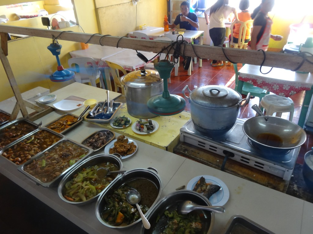 One of the many eateries at Lucena bus station
