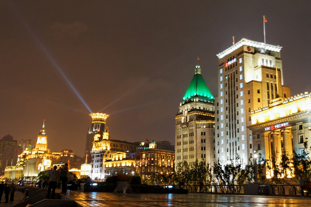 Shanghai Nightlife the bund
