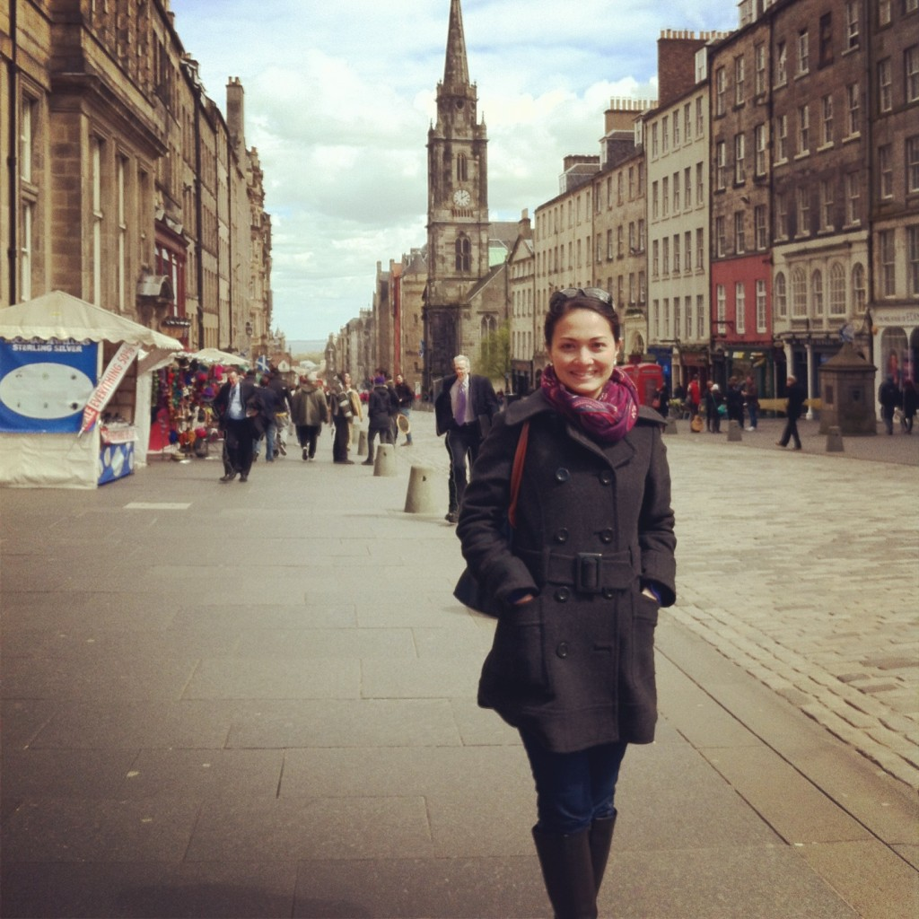 Anna in Edinburgh, Scotland