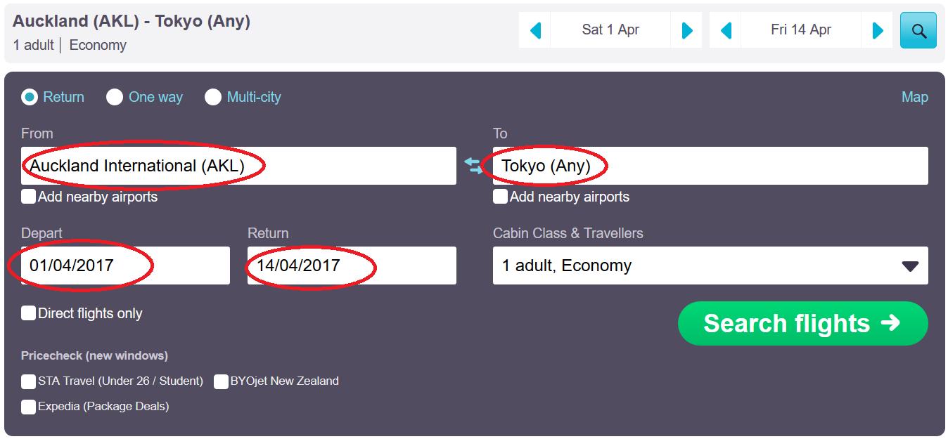 Hipmunk flight search app