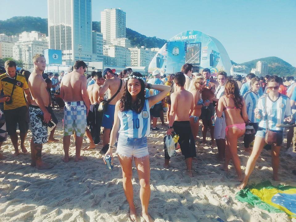 Trisha Velarmino World cup, solo female travel