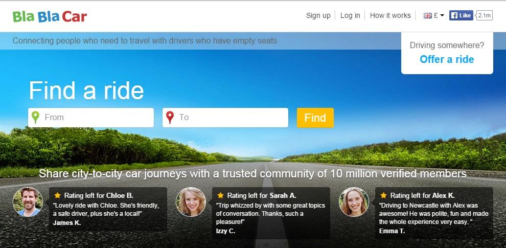 blablacar, best travel websites 2015