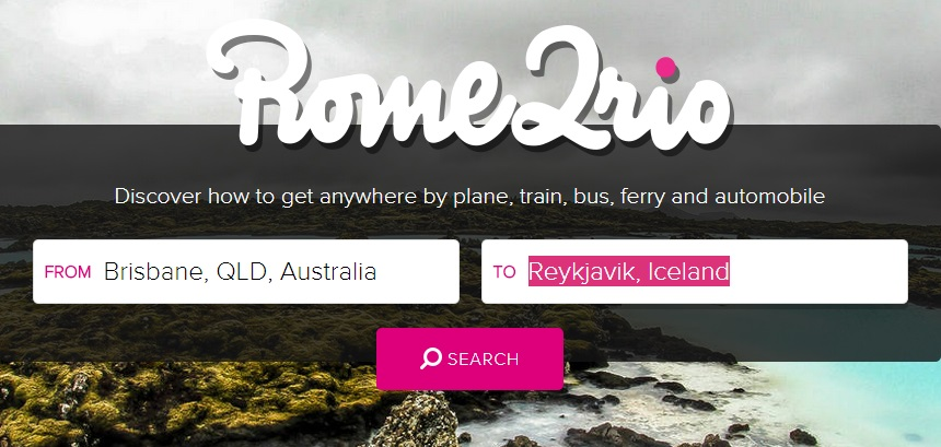 rome2rio review, best travel websites