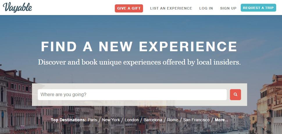 best travel websites 2015, vayable