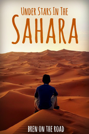 Magical story by Bren On The Road about star gazing in the Sahara.